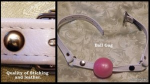 leather ball gag collage