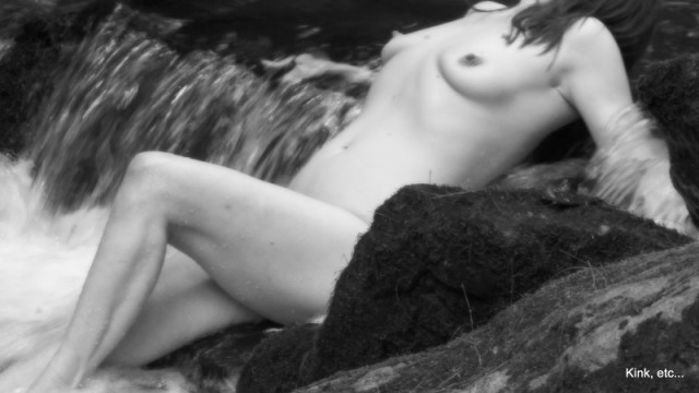 waterfall nude erotic picture in nature