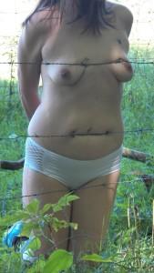 barbed wire, bondage